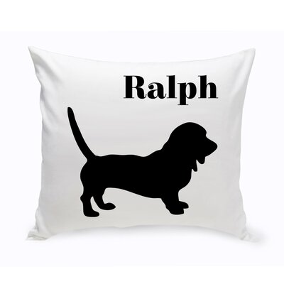 Personalized Dachshund Classic Silhouette Throw Pillow