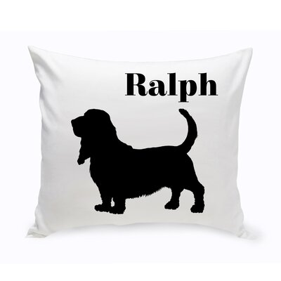 Personalized Basset Hound Classic Silhouette Throw Pillow
