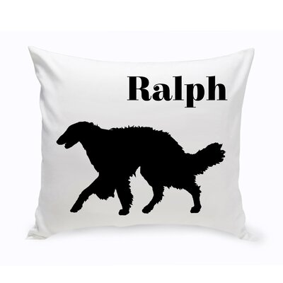 Personalized Silken Windhound Classic Silhouette Throw Pillow