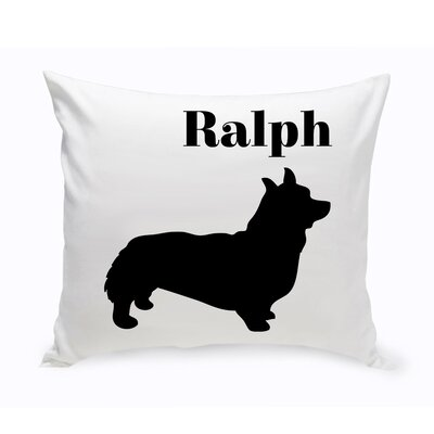 Personalized Corgie Classic Silhouette Throw Pillow