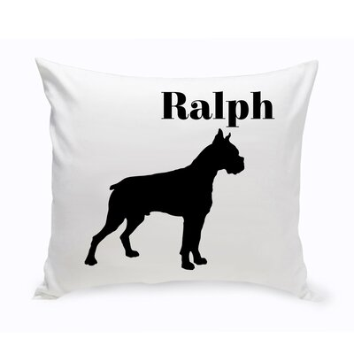 Personalized Boxer Classic Silhouette Throw Pillow