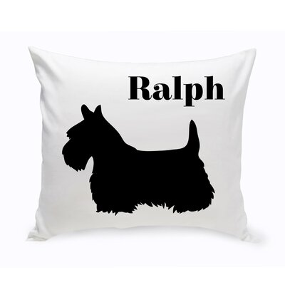 Personalized Schnauzer Classic Silhouette Throw Pillow