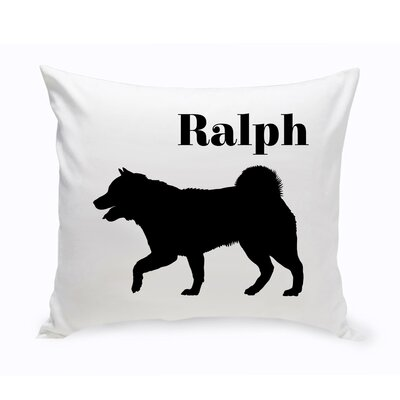 Personalized Husky Siberian Classic Silhouette Throw Pillow