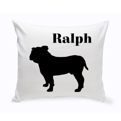 Personalized English Bulldog Classic Silhouette Throw Pillow