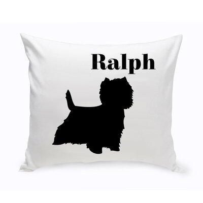 Personalized West Highland Terrier Classic Silhouette Throw Pillow