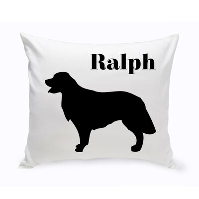 Personalized Golden Retriever Classic Silhouette Throw Pillow