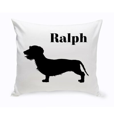 Personalized Wire-Haired Dachshund Classic Silhouette Throw Pillow