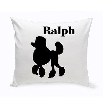 Personalized Mini Poodle Classic Silhouette Throw Pillow