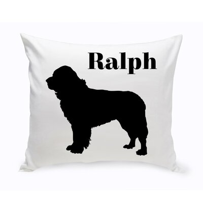 Personalized St. Bernard Classic Silhouette Throw Pillow