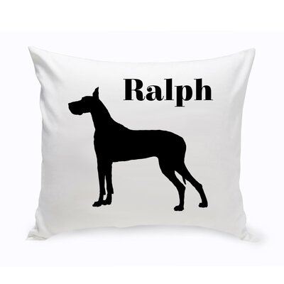 Personalized Great Dane Classic Silhouette Throw Pillow