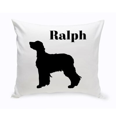 Personalized Newfoundland Classic Silhouette Throw Pillow
