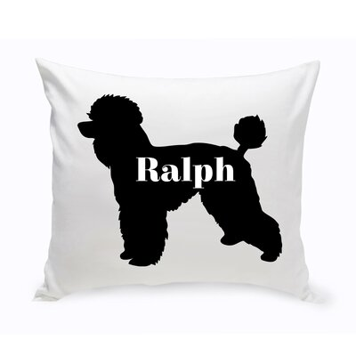 Personalized Toy Poodle Silhouette Throw Pillow