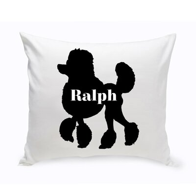 Personalized Mini Poodle Silhouette Throw Pillow