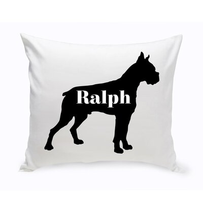Personalized Boxer Silhouette Throw Pillow