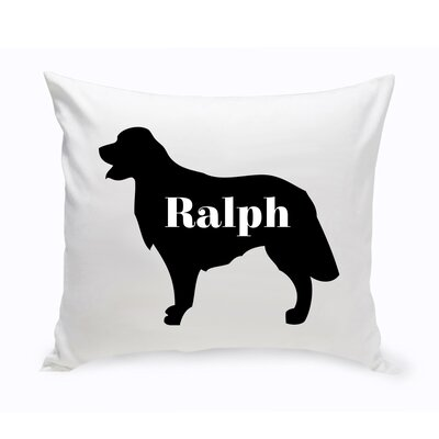 Personalized Golden Retriever Silhouette Throw Pillow