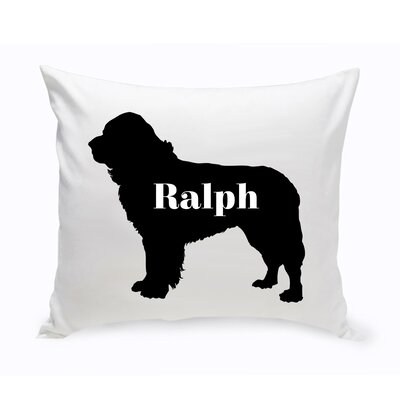 Personalized St. Bernard Silhouette Throw Pillow
