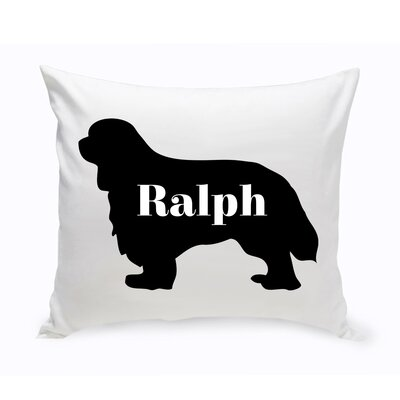 Personalized Cavalier King Charles Spaniel Silhouette Throw Pillow