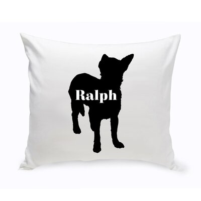 Personalized Shorthair Chihuahua Silhouette Throw Pillow