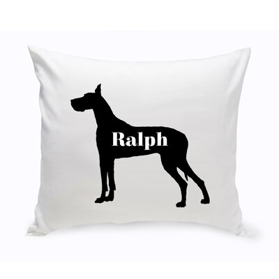 Personalized Great Dane Silhouette Throw Pillow