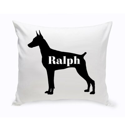 Personalized Doberman Pinscher Silhouette Throw Pillow