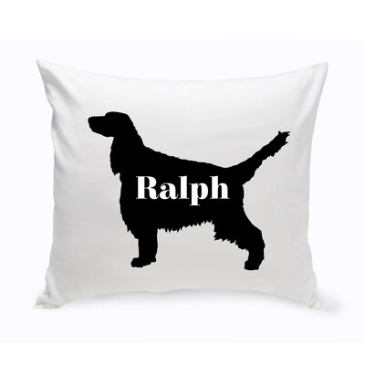 Personalized English Springer Spaniel Silhouette Throw Pillow