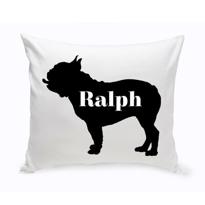 Personalized American Bulldog Silhouette Throw Pillow