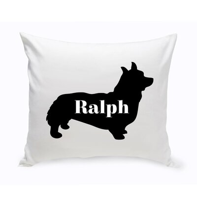 Personalized Corgie Silhouette Throw Pillow