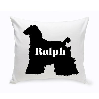 Personalized Afghan Hound Silhouette Throw Pillow