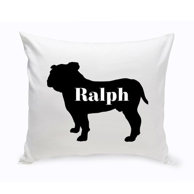 Personalized English Bulldog Silhouette Throw Pillow
