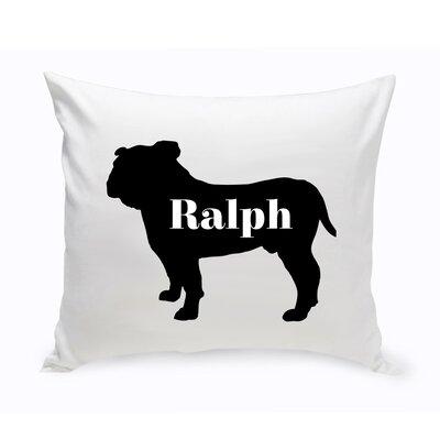 Personalized English Bulldog Silhouette Throw Pillow