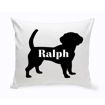 Personalized Beagle Silhouette Throw Pillow