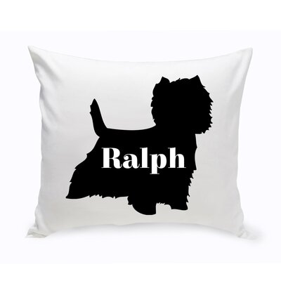 Personalized West Highland Terrier Silhouette Throw Pillow