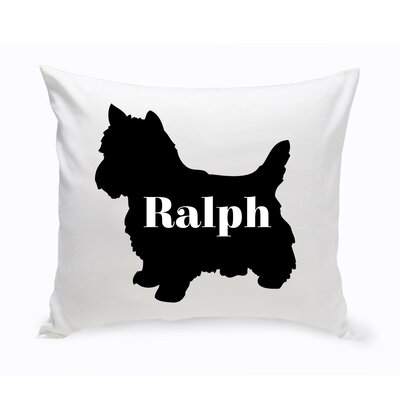 Personalized Yorkshire Terrier Silhouette Throw Pillow