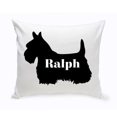 Personalized Schnauzer Silhouette Throw Pillow
