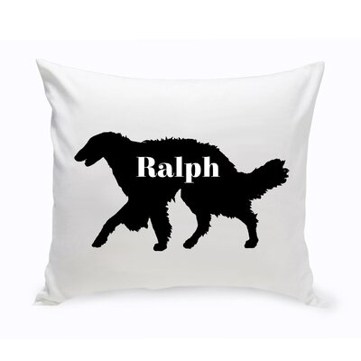 Personalized Silken Windhound Silhouette Throw Pillow