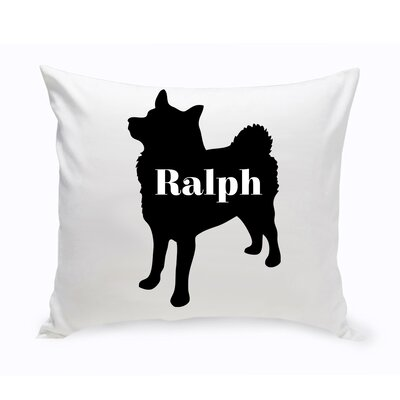 Personalized Eskimo Silhouette Throw Pillow
