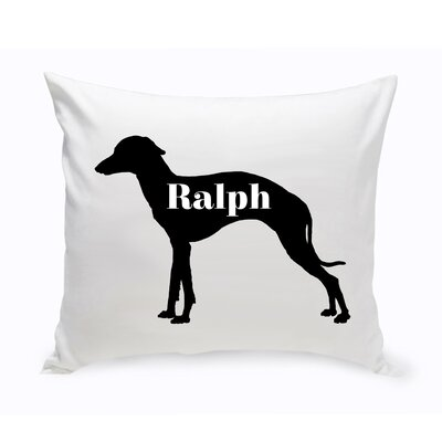 Personalized Grey Hound Silhouette Throw Pillow