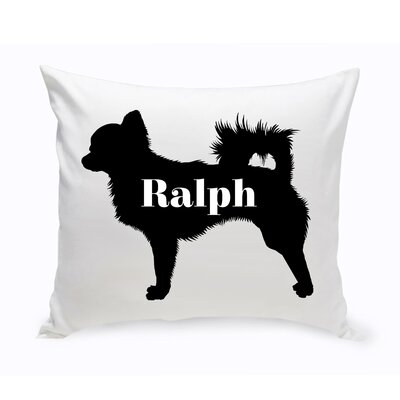 Personalized Chihuahua Silhouette Throw Pillow