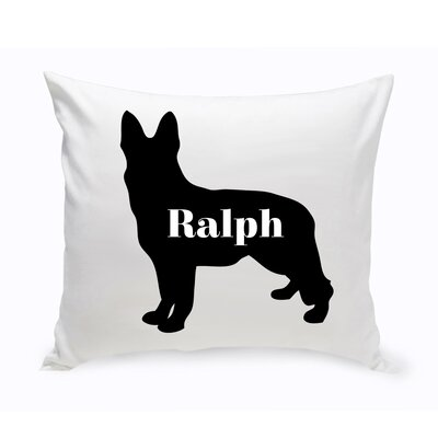 Personalized German Shepherd Silhouette Throw Pillow