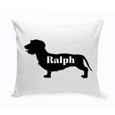 Personalized Wire-Haired Dachshund Silhouette Throw Pillow