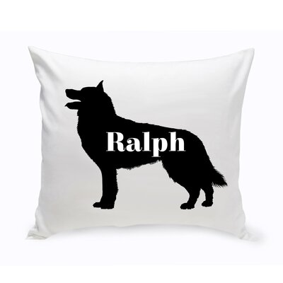 Personalized Collie Silhouette Throw Pillow