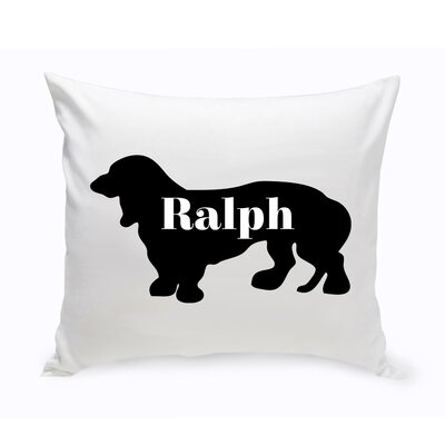 Personalized Basset Hound Silhouette Throw Pillow