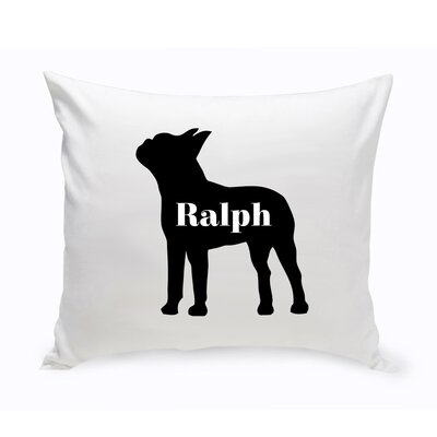 Personalized Boston Terrier Silhouette Throw Pillow
