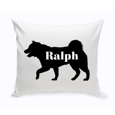 Personalized Husky Siberian Silhouette Throw Pillow