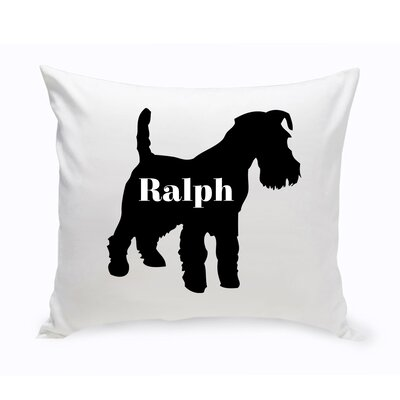 Personalized Scottish Terrier Silhouette Throw Pillow