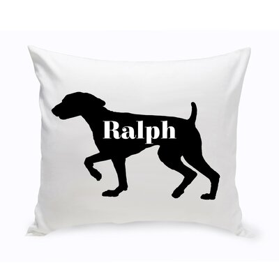 Personalized Springer Spaniel Silhouette Throw Pillow