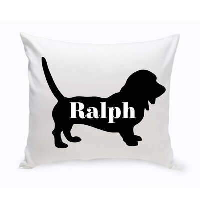 Personalized Dachshund Silhouette Throw Pillow