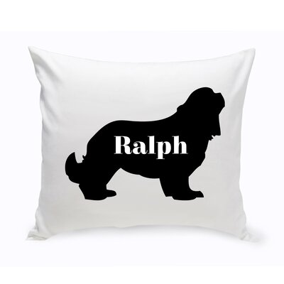 Personalized Cocker Spaniel Silhouette Throw Pillow