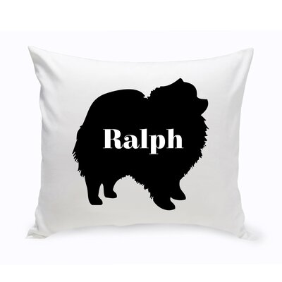 Personalized Pomeranian Silhouette Throw Pillow