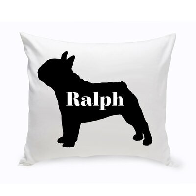 Personalized French Bulldog Silhouette Throw Pillow